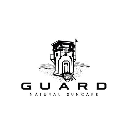 Hand drawn logo for Guard Natural Suncare