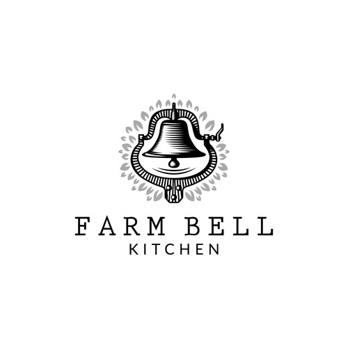Logo for restaurant/cafe featuring farmhouse