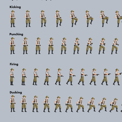Game Character Sprite Sheet