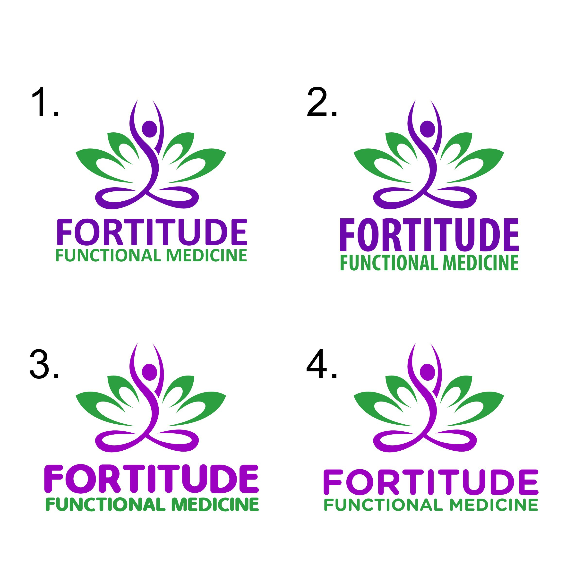 Create a retro vintage or signature logo for Fortitude Functional Medicine