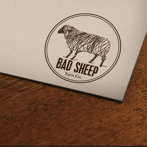 "Create a new logo for ""Bad Sheep Yarn Co."""