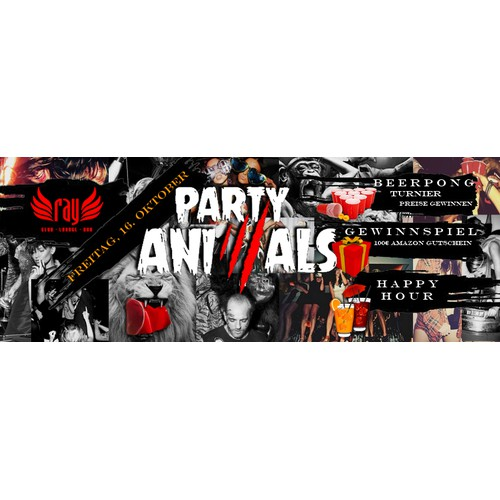 Facebook cover for Party animals
