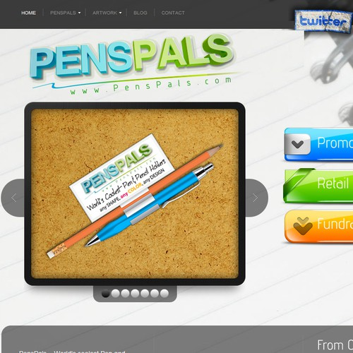 Create the next 3D logo for PensPals