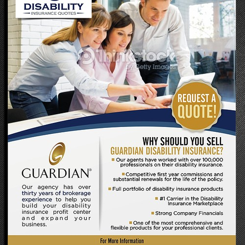 Design an advertisement for Guardian, the nations largest seller of individual disability insurance