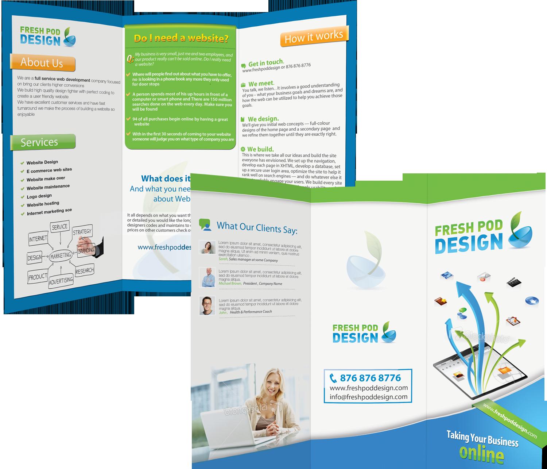 Create the next Brochure for Pod Design