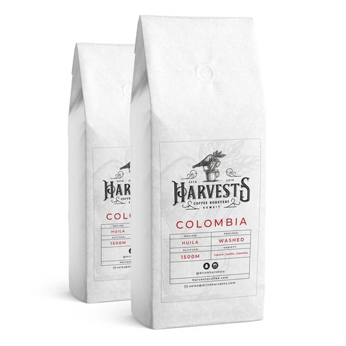 Harvests | Coffee Label Design