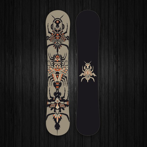 Snowboard design for a new brand.