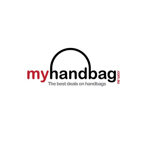 online store logo for designer brands to more affordable bags. come on i know you want to look.