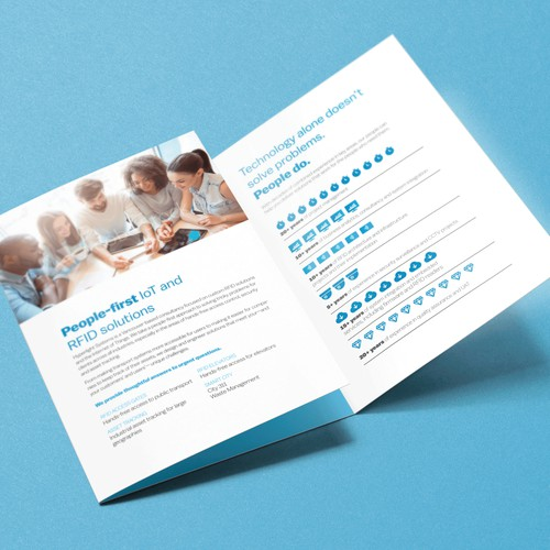 Software/Tech Trifold Brochure