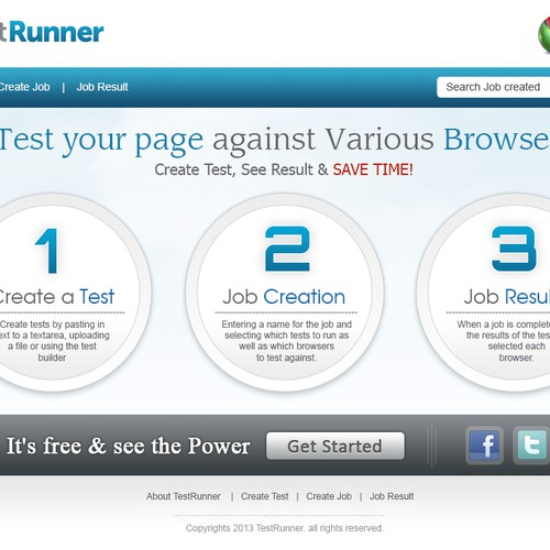 Help TestRunner with a new website design