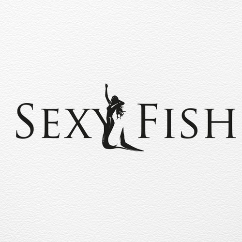 sexy fish logo design