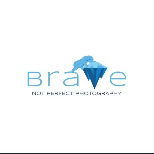 Bold logo for portrait photography business