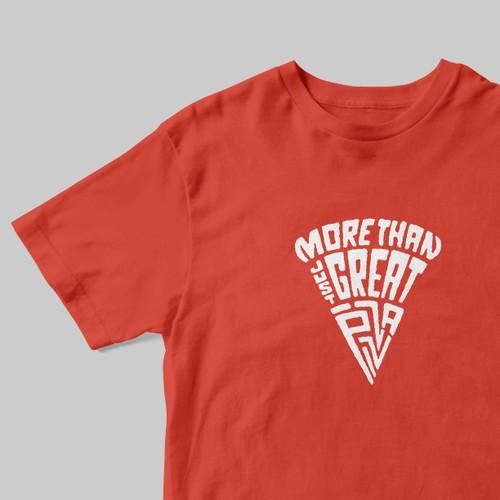 Creative t-shirt design for a modern pizzeria