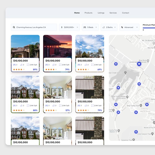 Real Estate Webapp Design Concept