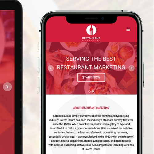 Restaurant Marketing Custom WordPress theme