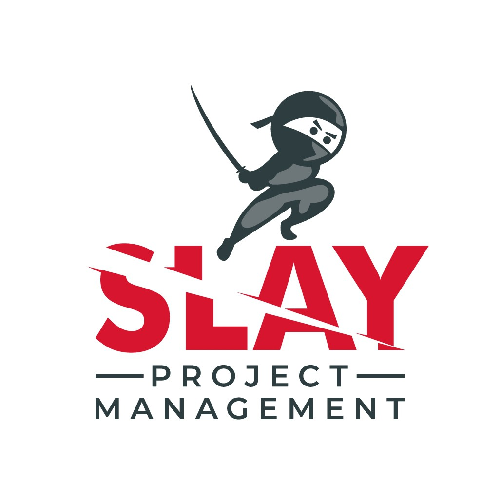 Design a new logo for SLAY PROJECT MANAGEMENT - it's an online practical course for project managers
