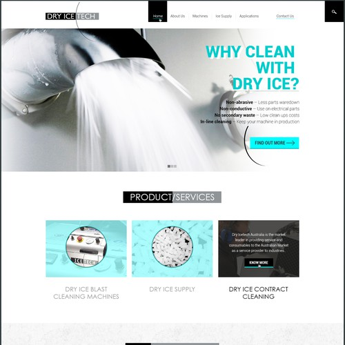 New website for Dry Ice Technology company