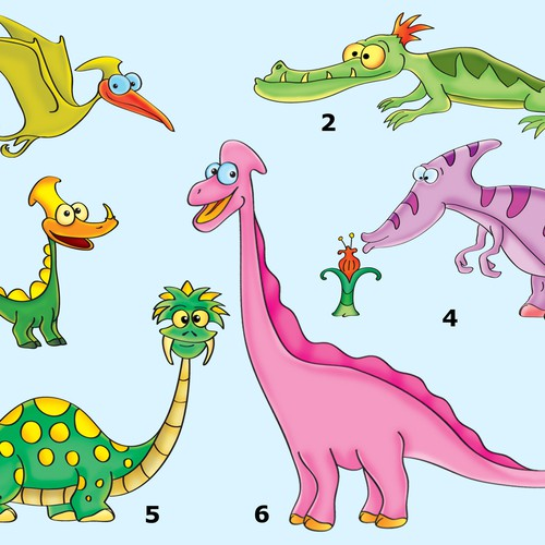 Dinosaur themed design for Schoolbags, Water bottles & lunchboxes