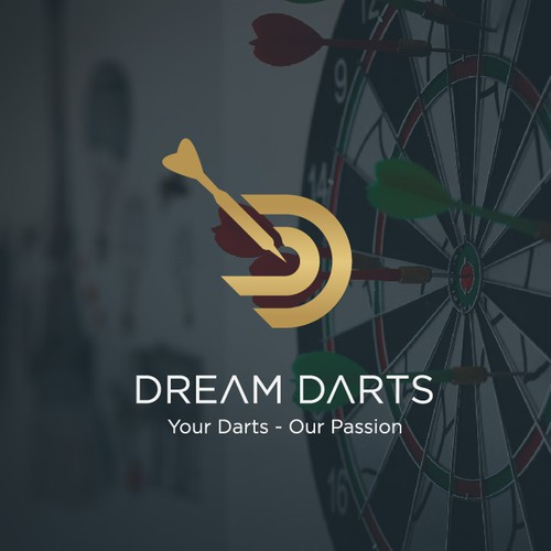 modern logo for dart shop -dream darts