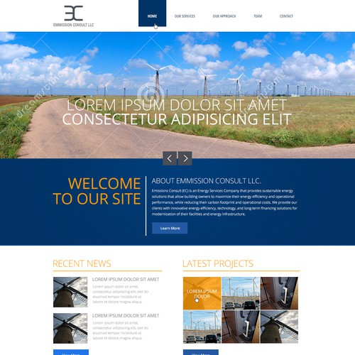 Website Design for Energy Consulting Firm