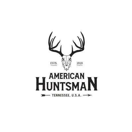 Deer hunter logo concept