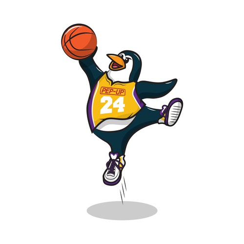 Basket Ball Penguin Contest Entry