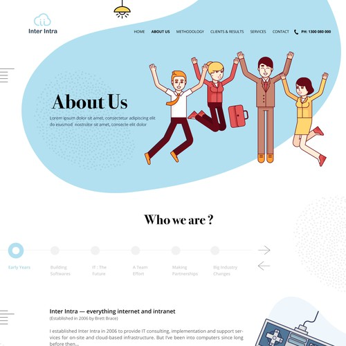 Creative Website Design for IT Consulting Firm