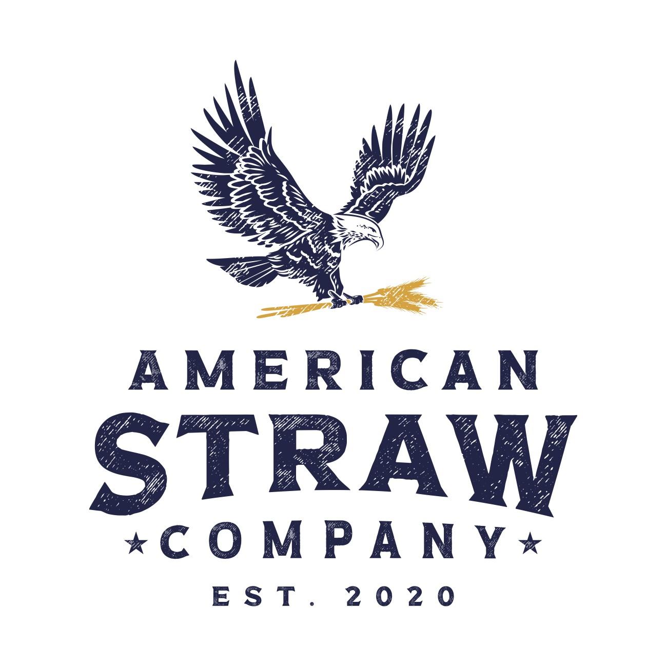 American Straw Company Logo Design