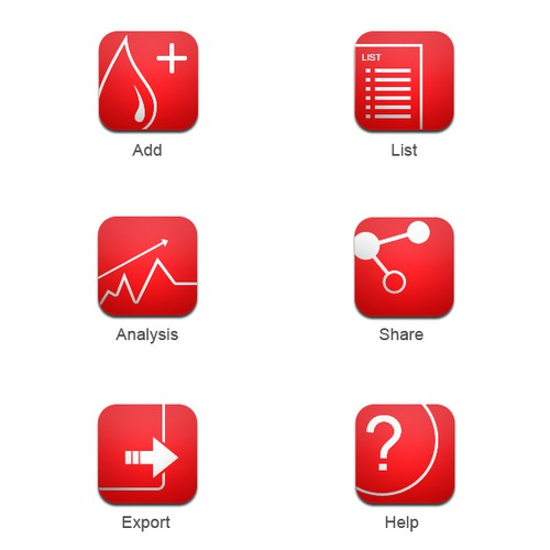 New icons for medical Android App.