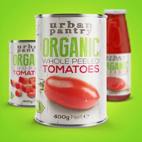 Urban Pantry Organic Tomato Labels