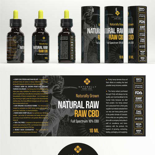 CBD Label and package