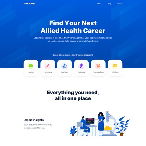 Health Careers Website