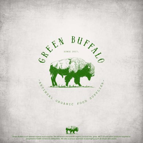 Illustrative logo for organic food supplier