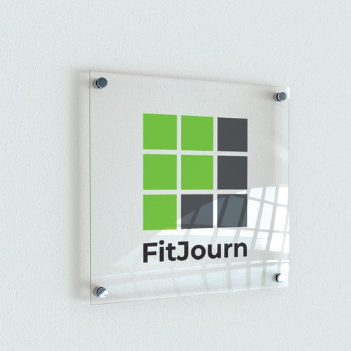 Brand logo for a fitness journal