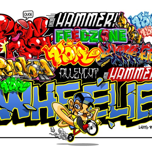 Graffiti Theme for a Bicycle Wear (Jersey)