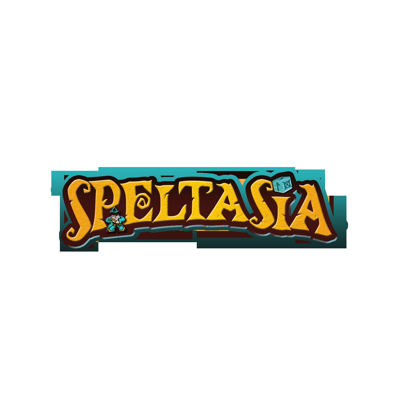 Speltasia - Wordmark logo for board game review blog