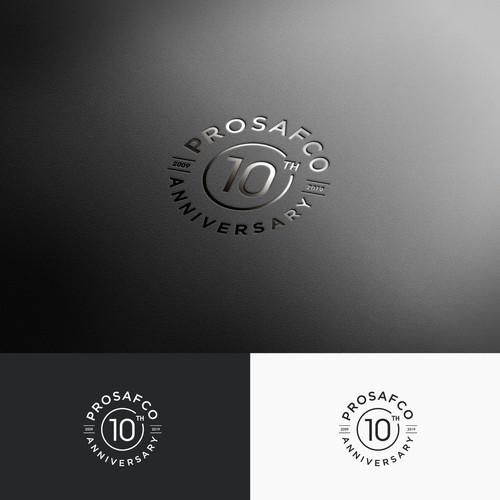 Logo Concept for Prosafco 10th Anniversary
