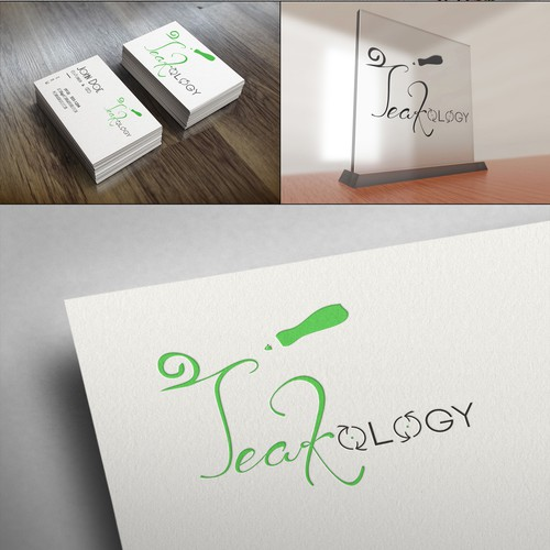 Elegant and simple wordform logo for Teakology. Show us your talent and WIN!