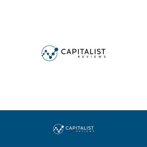 Logo Design for Capitalist Reviews, a site that helps people make smart money decisions