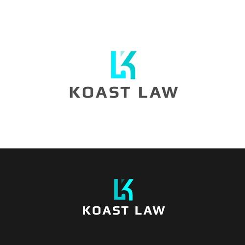 Koast Law logo concept