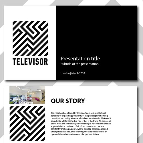Powerpoint Presentation for an animation & postproduction studio