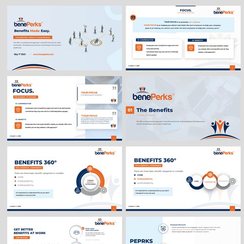 PowerPoint redesign for an Employee Benefits Company