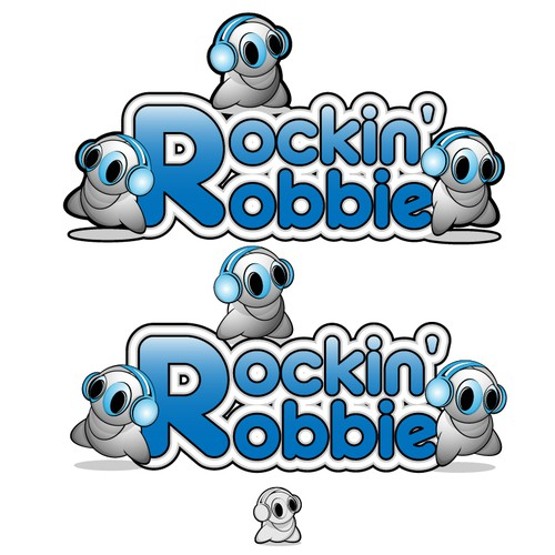 Cool new high-tech kids toy needs a creative logo:  Rockin' Robbie