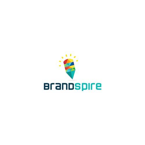 Colorful and unique logo for brandspire.com