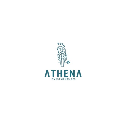 Logo concept for ATHENA, an investments company