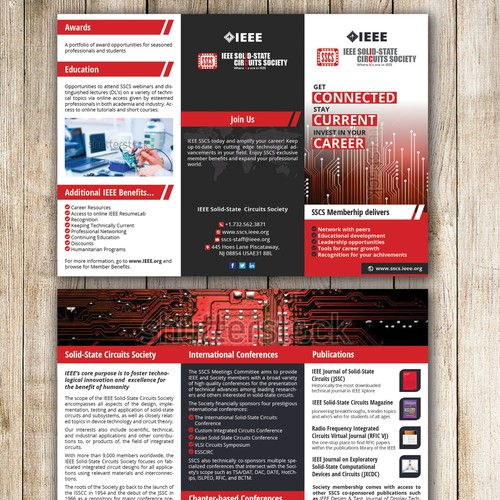 3 Fold brochure for IEEE Solid State Circuits Society