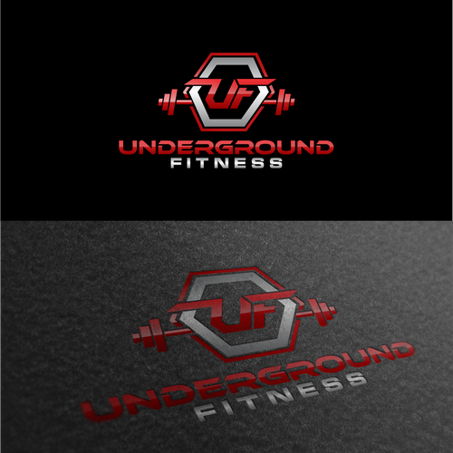 Create an industrial, garage, hardcore fitness training logo