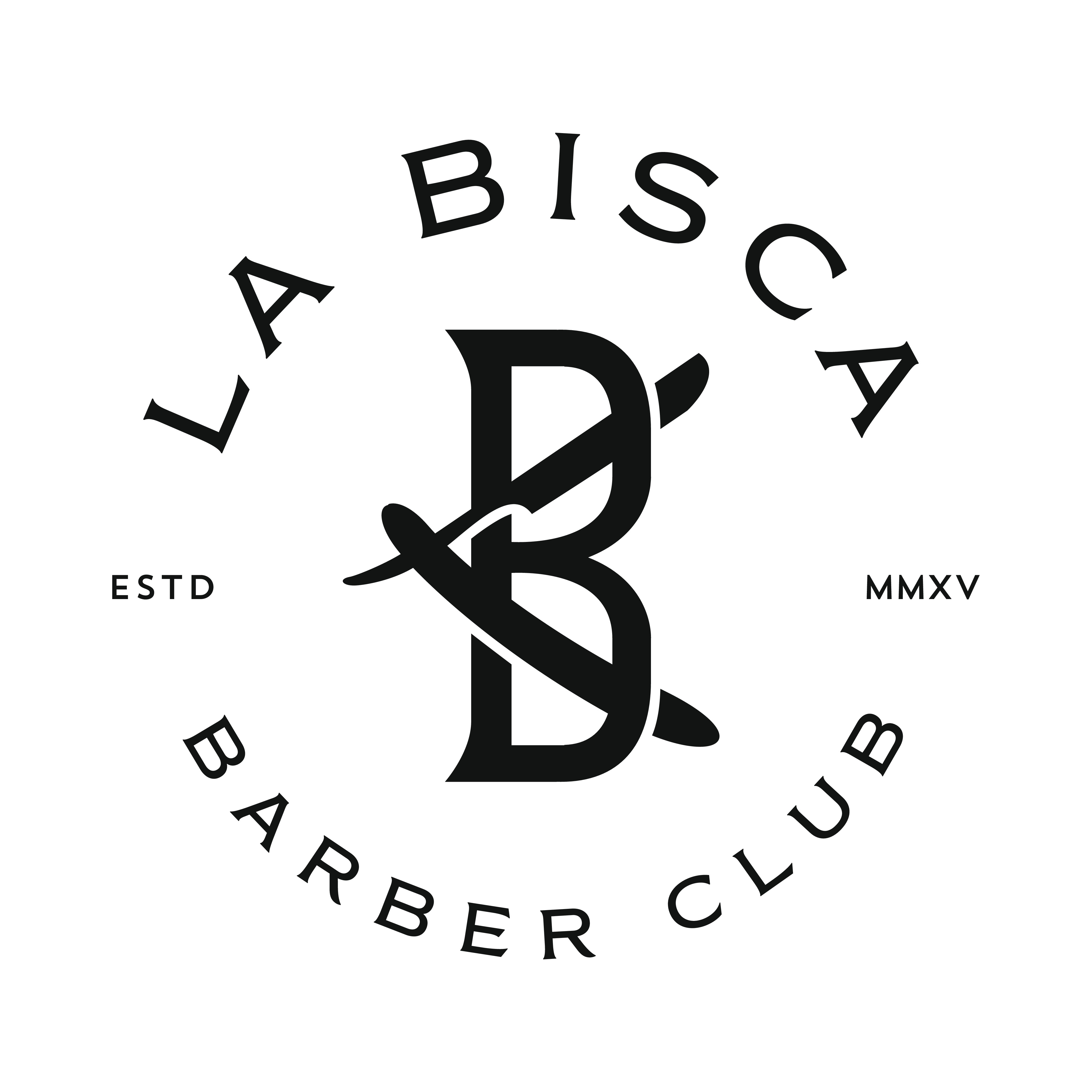 Logo for an Exclusive Old School Barber Club