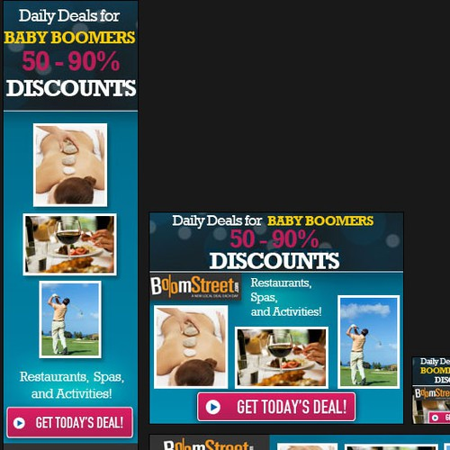 "Banner Ads for Daily Deals ""Group Buying"" Website"