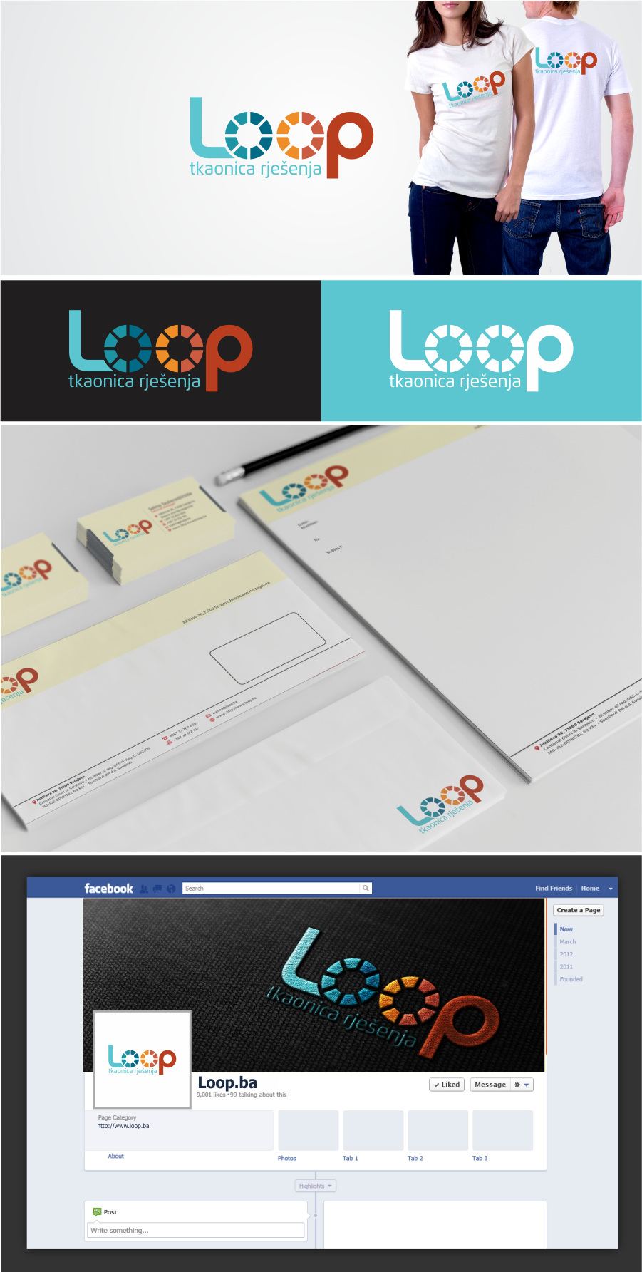 Design an unique and eye catching visual identity for Loop
